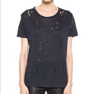 Revolve IRO Distressed Linen Clay Tee Shirt